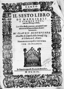 Monteverdi.VI libro kansi alkuper.