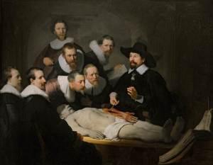 Rembrandt.1632.Tohtori Tulpin anatomian luento