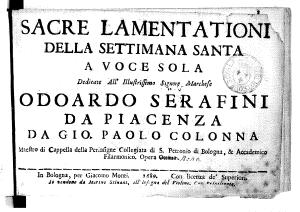 Colonna.Lamentationi op.9.1689