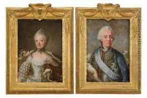Portratt-Av-Kung-Adolf-Fredrik-Och-Hans-Maka-Drottning-Lovisa-Ulrika-2-St-Midjebilder-883666-large