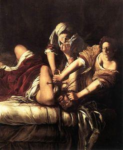 Artemisia_Gentileschi_-_Judith_Beheading_Holofernes_-Uffizi_WGA08565